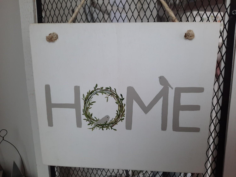 "Holzschild ""Home"" handbemalt"