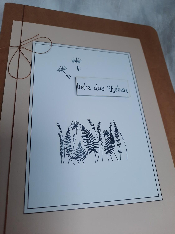 """Notizbuch """"liebe das Leben"""""""