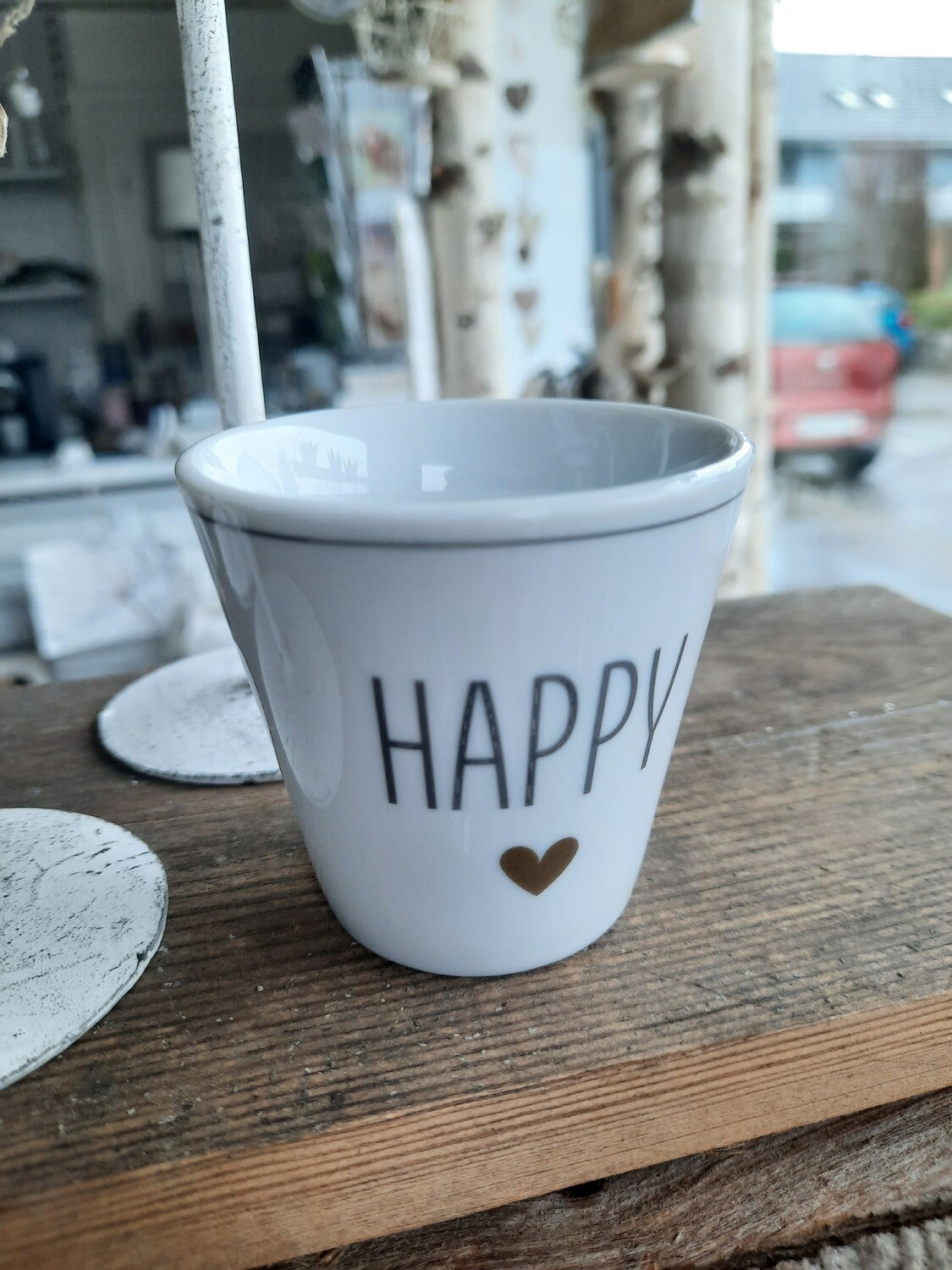 """HAPPY"" Espresso-Becher"