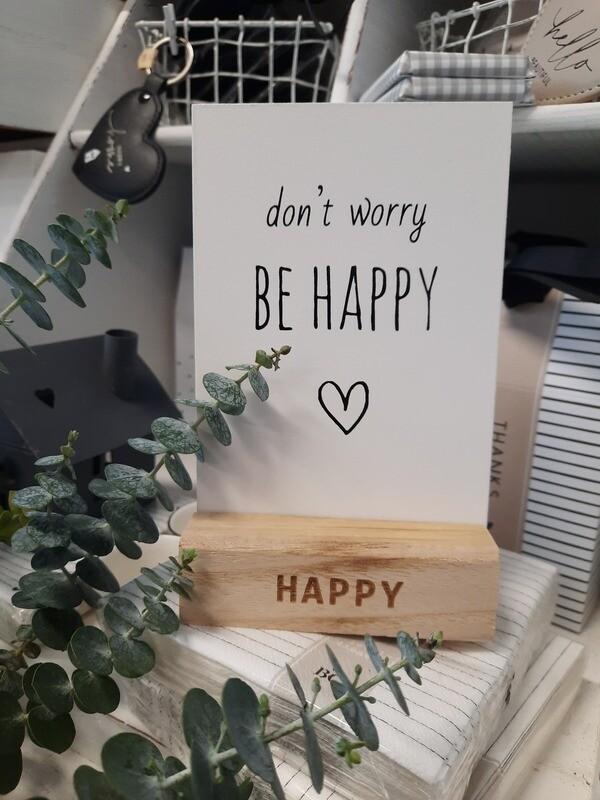 Aufsteller: don't worry....