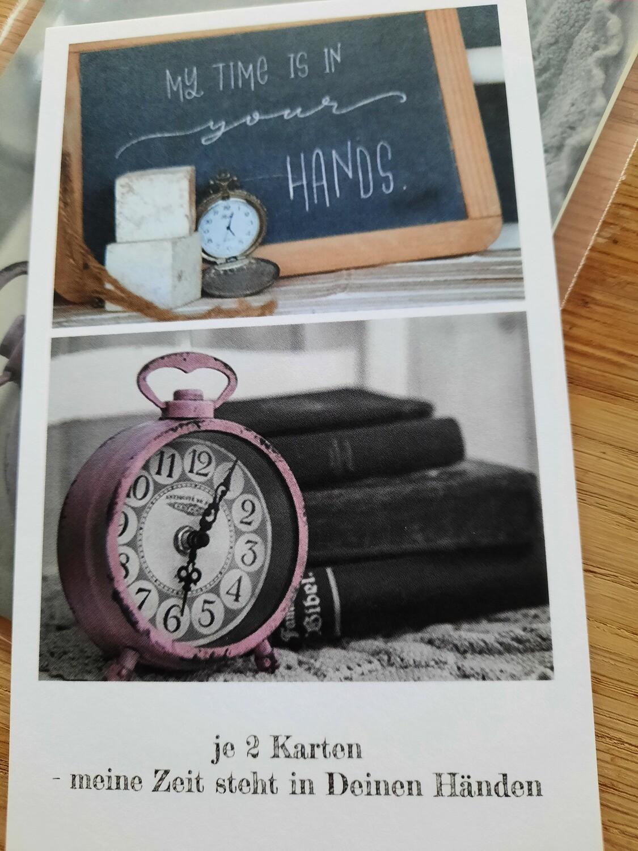4 Karten - meine Zeit steht in deinen Händen