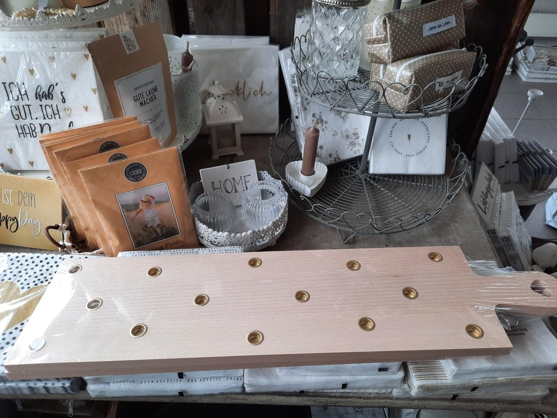 Eulenschnitt Holzbrett - für 14 Kerzli