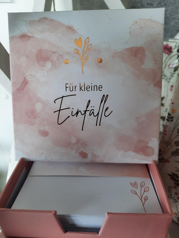 """Notizzettelbox """"für kleine Einfälle"""""""