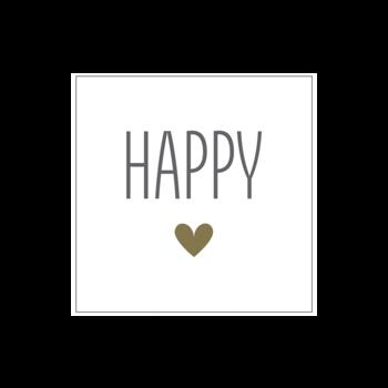 """Papierserviette """"HAPPY"""""""