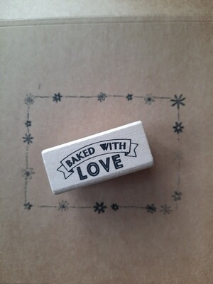 Stempel: baked with love