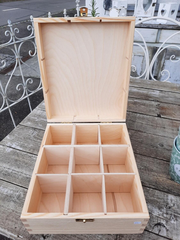 Holz-Teebox - für Deine 5 Minuten