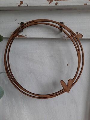 3-facher Ring mit Herz ---25 cm