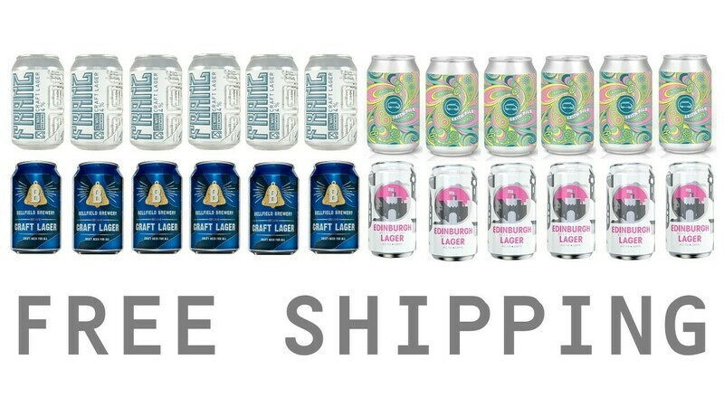 Edinburgh Craft Lagers x 24 (FREE SHIPPING)