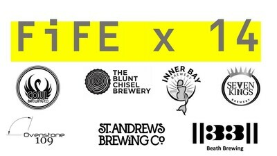 FIFE CRAFT BEERS - 14 bottle/can Mixed Case