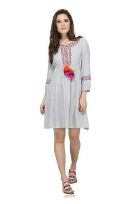 Periwinkle Embroidered Dress