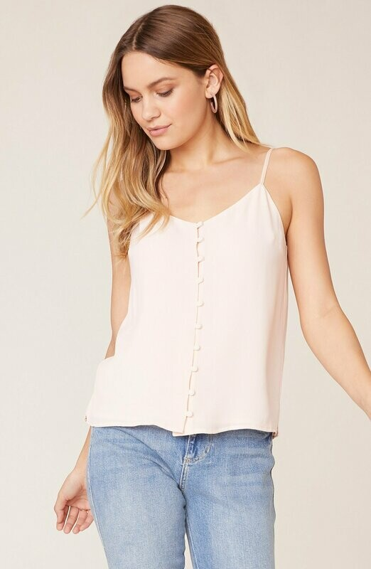 Buttoned Camisole Pink