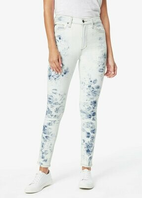 Tie-Dye Floral White High Rise Skinny Jeans