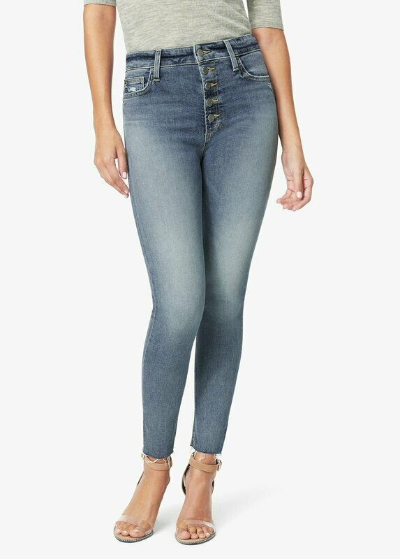 Button Fly High-Rise Skinny Jean