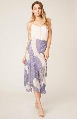 Lavender Patchwork Midi Skirt
