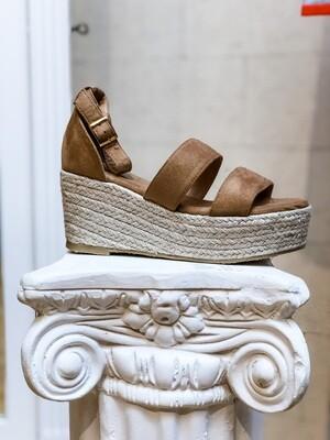 Light Brown Wedge Sandals