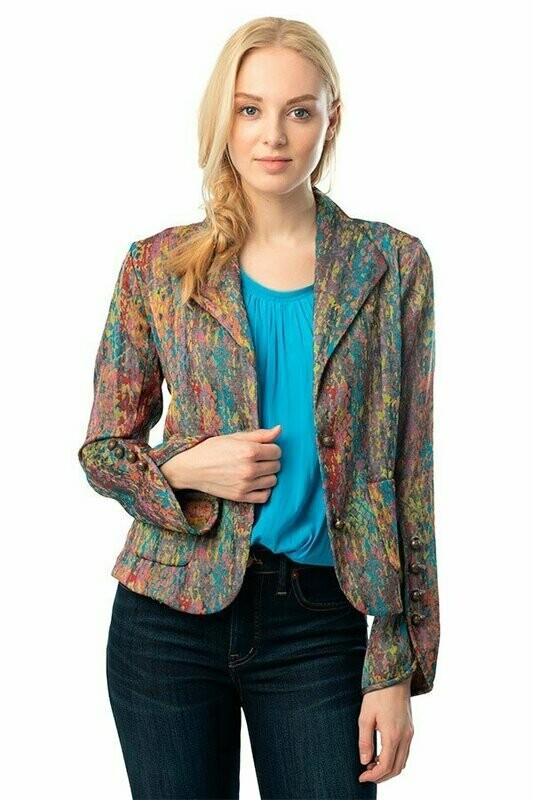 Multi Colored Jacquard Blazer