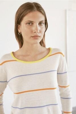 Multi Striped Crewneck Sweater
