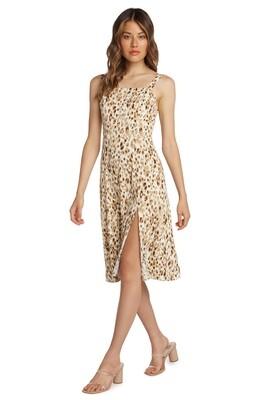 Pastel Leopard Square Neck Dress