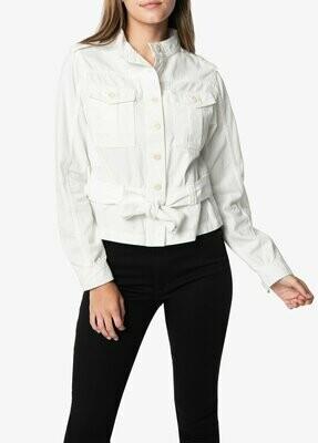 White Belted Utility Jacket