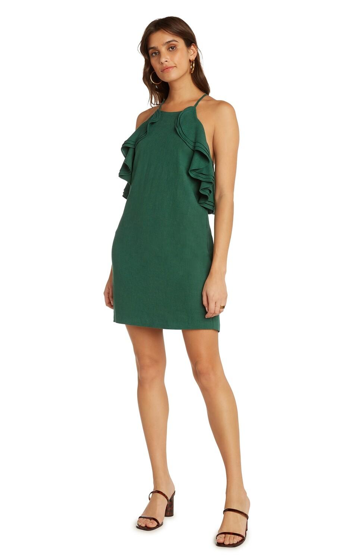 Basil Ruffled Halter Dress