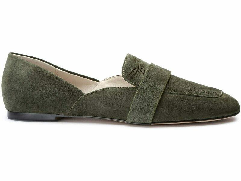 Sass Olive Green Loafer