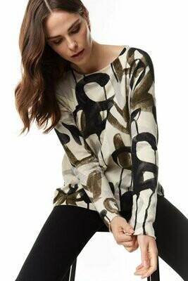Charcoal Combo Graffiti Love Letters Sweater
