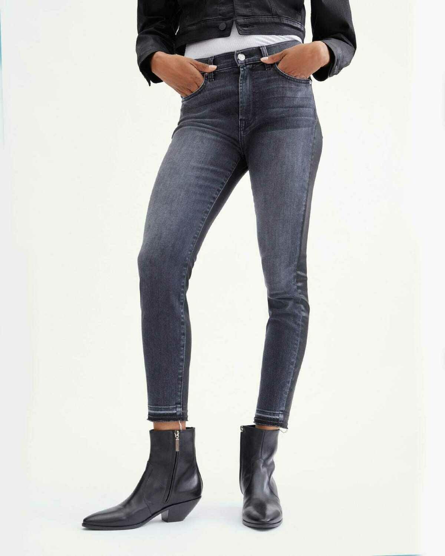 Vintage Black Coated 50/50 High Waist Skinny Jean