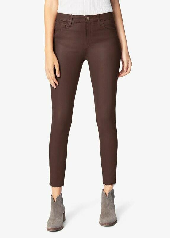 Cocoa Bean Coated High Rise Skinny Ankle Jean