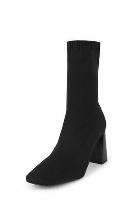 Jeffrey Campbell Black Knit Patti Sock Bootie