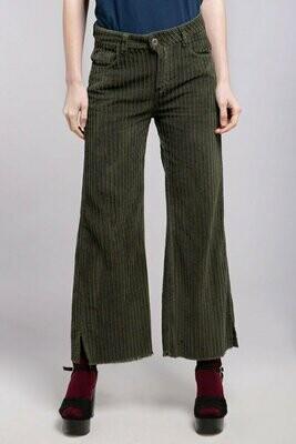 Olive Corduroy 5-Pocket Pants