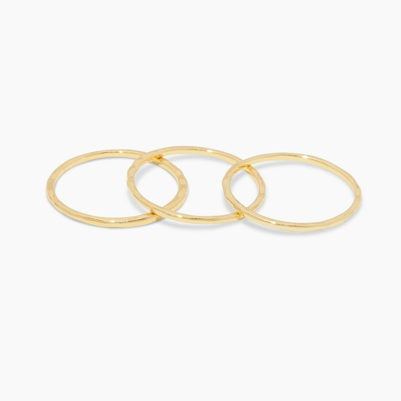 Gold G Ring Set/3
