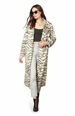 Zebra Midi Coat