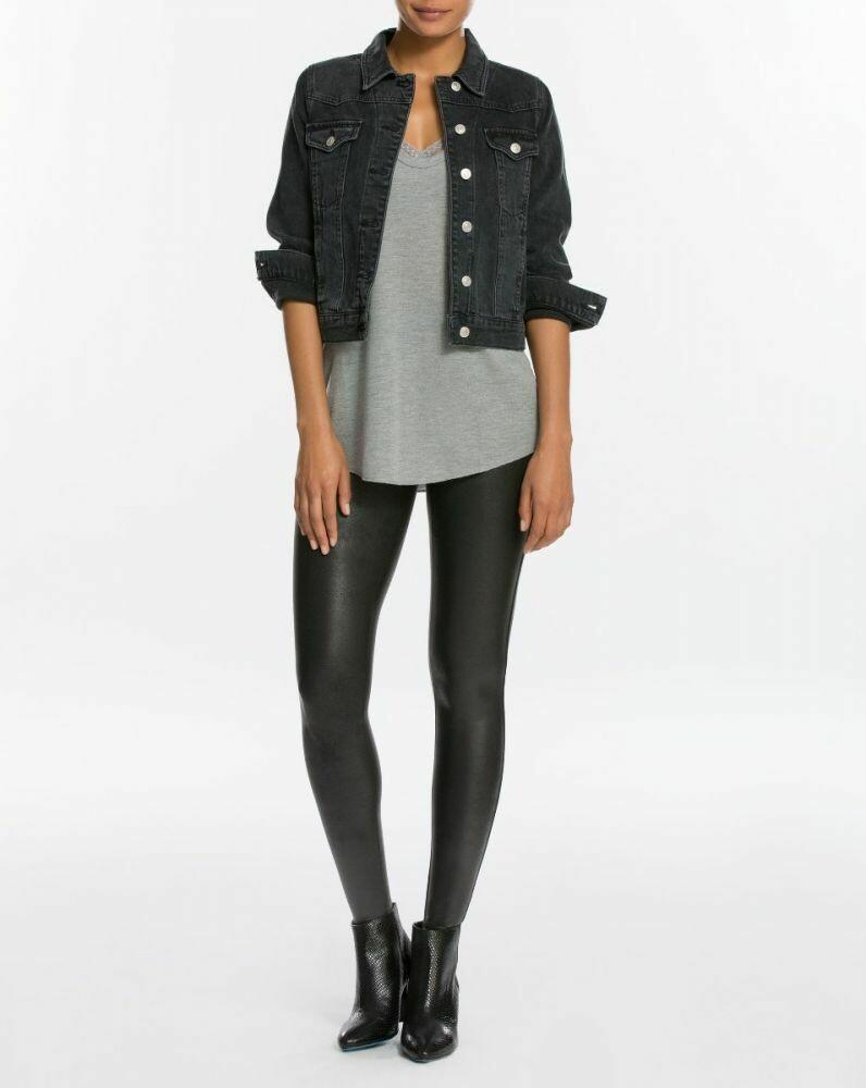 Black Faux Leather Spanx Leggings