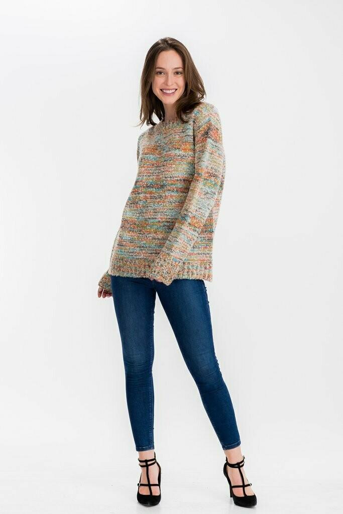 Rainbow Marled Sweater