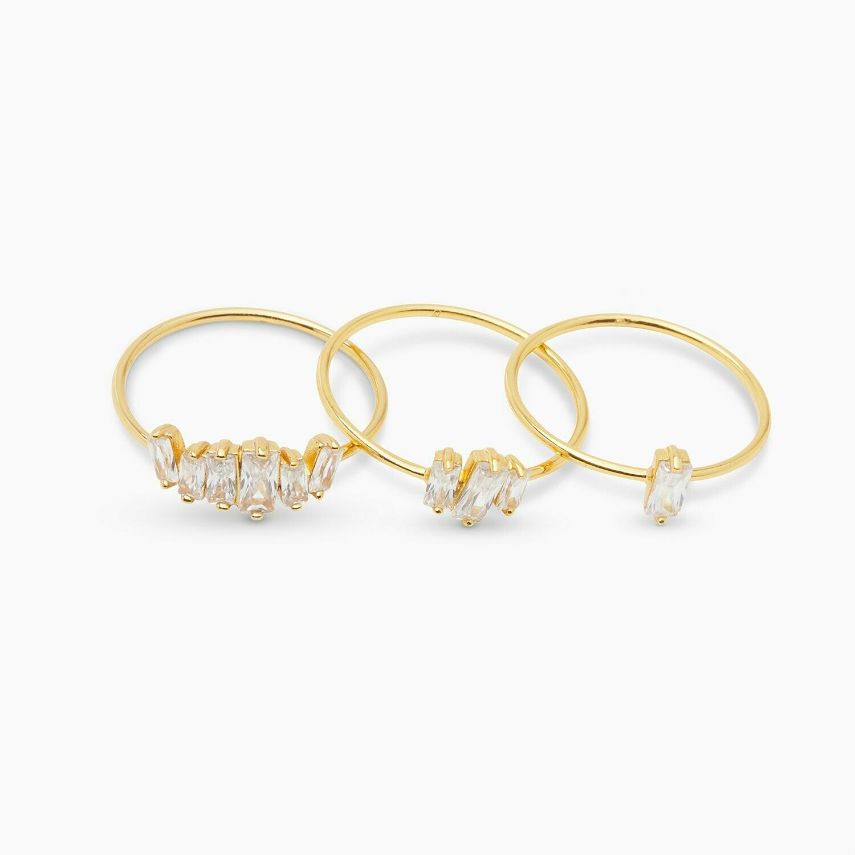 Amara White CZ Ring Set/3