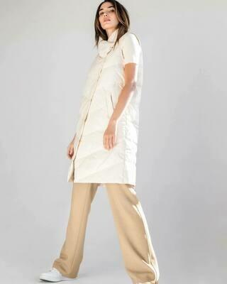 Cream Puffer Long Vest