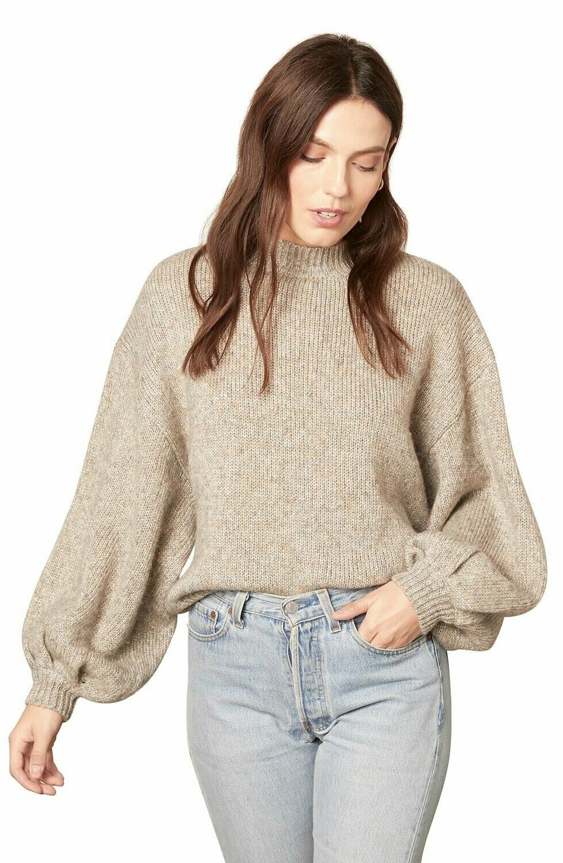 Gray Sparkle Balloon Sleeve Sweater