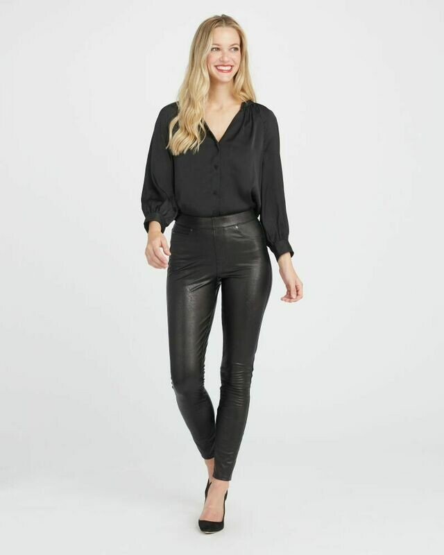 Faux Leather Ankle Skinny Spanx Pant