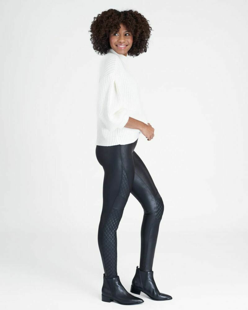 Quilted Faux Leather Spanx Leggings