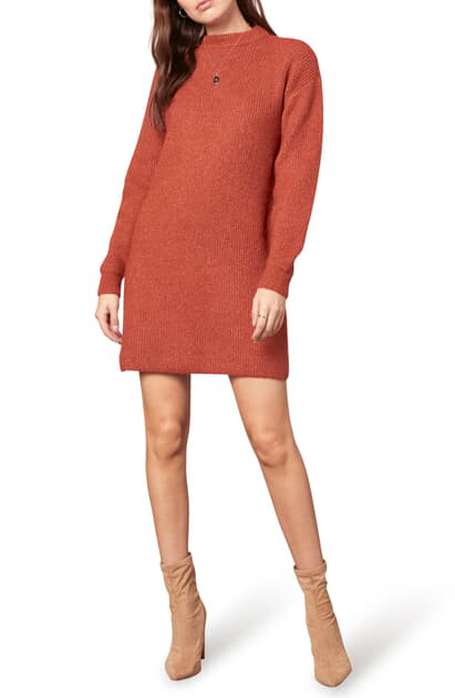 Rust Twain Sweater Dress