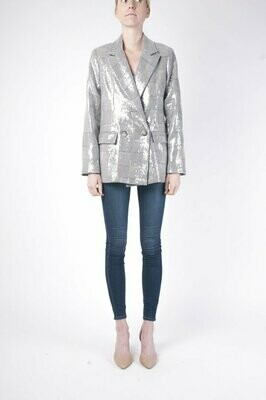 Gray Sparkle Plaid Ciara Jacket