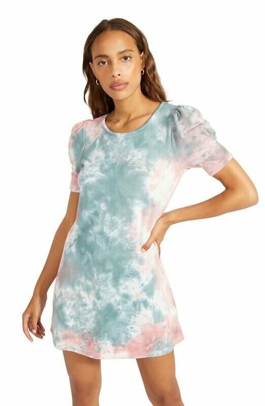 Pastel Tie-Dye T-Shirt Dress