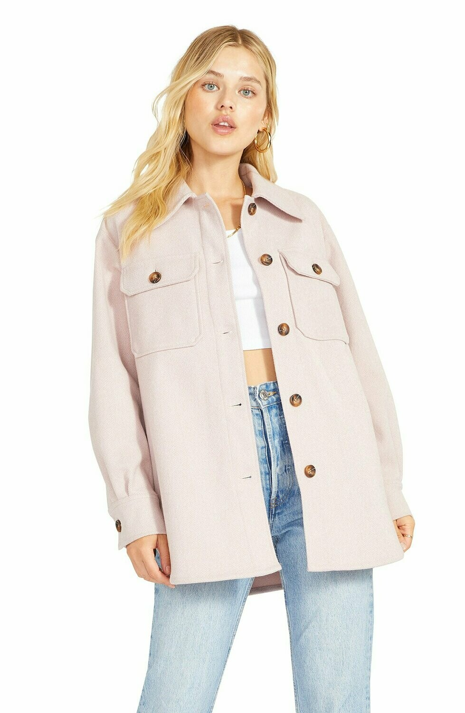 Pale Pink Shirt Jacket
