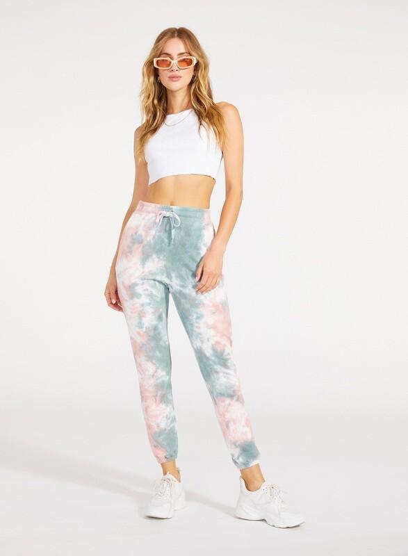 Pastel Tie-Dye Jogger Pants