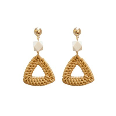 Bali Triangle Earrings