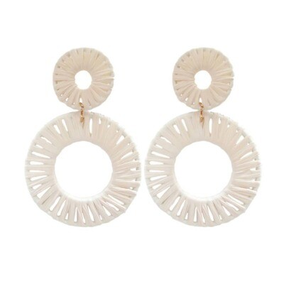 Calypso Raffia Circle Earrings