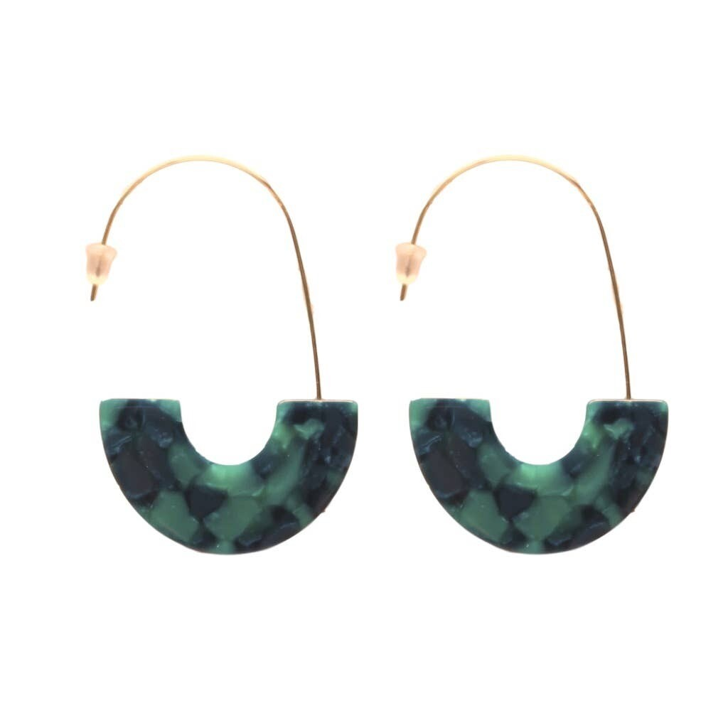 Emerald Isla Hoop Earrings