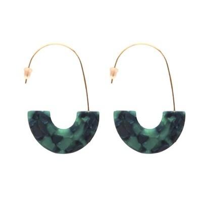 Emerald Isla Hoop Earrings