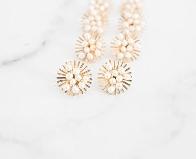 Pearl Starburst Stud Earrings