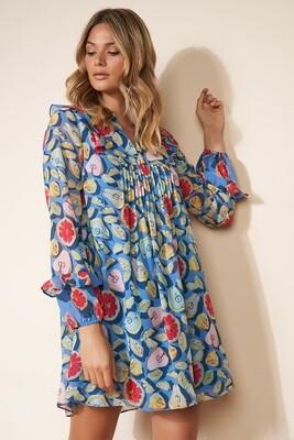 Summer Fruits Pintuck Tunic Dress